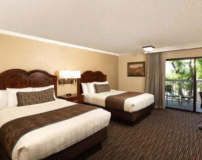 Two Double Beds With A Balcony Best Western Plus Inn California